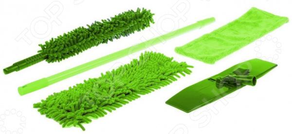 Набор для уборки: швабра с насадками и щетка Bradex TD-0558