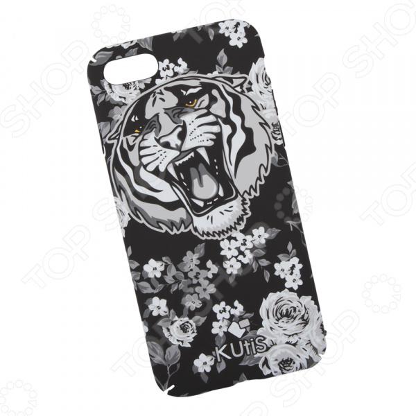 лучшая цена Чехол для iPhone 7/8 KUtiS Monochrome AK-1 «Тигр»