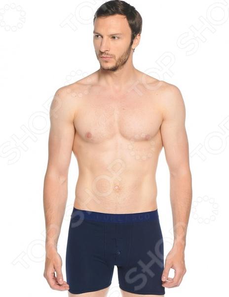 Трусы-боксеры мужские Burlesco AE17. Цвет: темно-синий