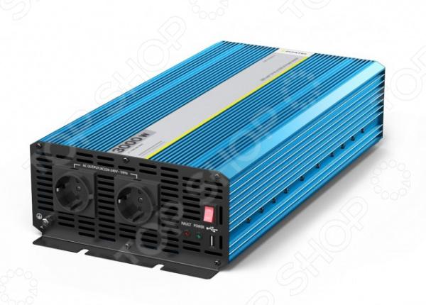 Инвертор автомобильный Pitatel KV-P3000RU.24 универсальный адаптер для ноутбуков ginzzu ga 4090u авто
