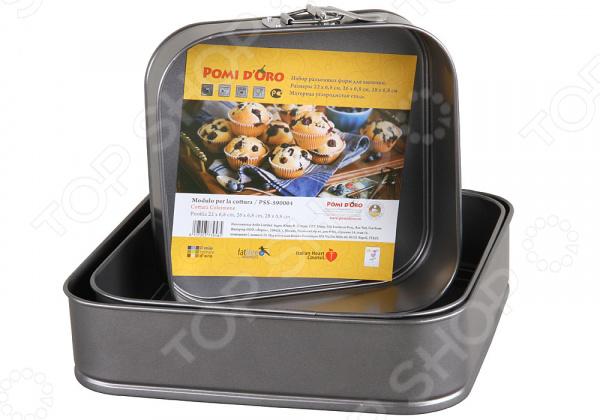 Набор форм для выпечки Pomi d'Oro PSS-590004 кастрюля pomi d oro facilita pss 595252 2 5 л стальной