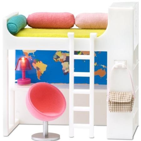 Купить Мебельный уголок для куклы Lundby Smoland «Кроватка-чердак»