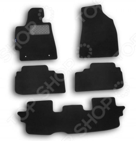 Комплект ковриков в салон автомобиля Novline-Autofamily Toyota Highlander 2010 кроссовер. Цвет: черный комплект ковриков в салон автомобиля novline autofamily mercedes benz gl class x164 2006 внедорожник цвет бежевый