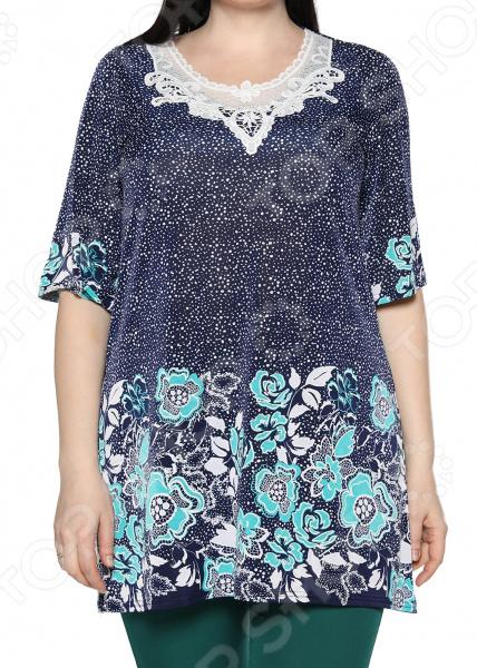 Туника Blagof «Звездное цветение». Цвет: бирюзовый блуза blagof blagof mp002xw0ygn0