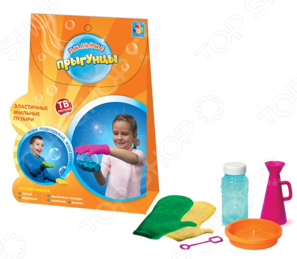 Набор для пускания мыльных пузырей 1 Toy «Прыгунцы» Т58672