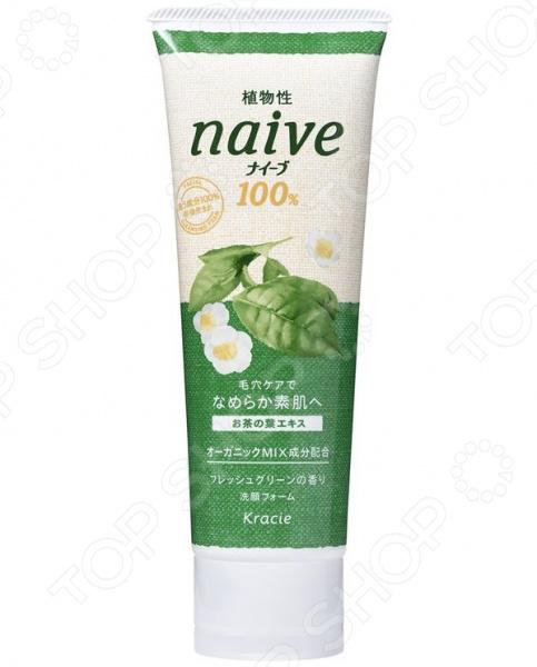 Пенка для умывания Kracie Naive с экстрактом чайного листа