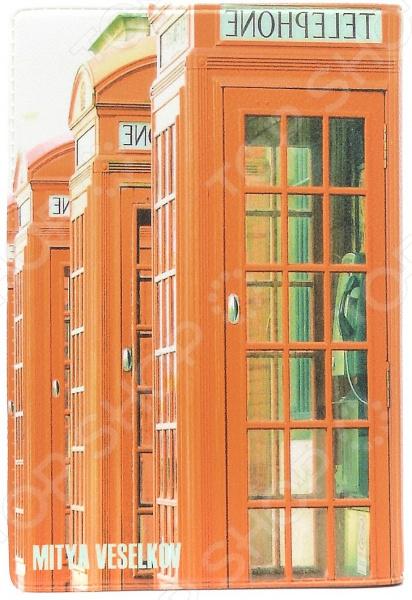 Визитница Mitya Veselkov «Будка в Лондоне» обложка для автодокументов mitya veselkov будка в лондоне