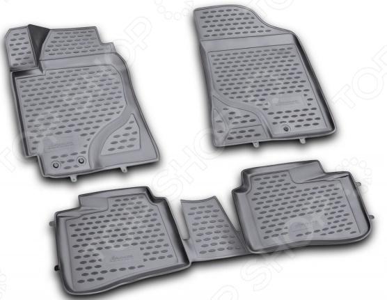 Комплект 3D ковриков в салон автомобиля Novline-Autofamily KIA Cerato 2009-2013 комплект 3d ковриков в салон автомобиля novline autofamily ford f250 f350 super crew 2009 2013