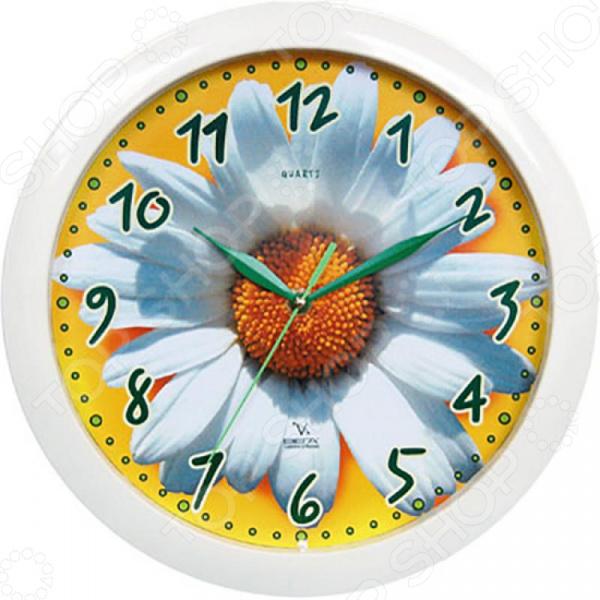 цена на Часы настенные Вега П 1-7/7-5 «Ромашка»