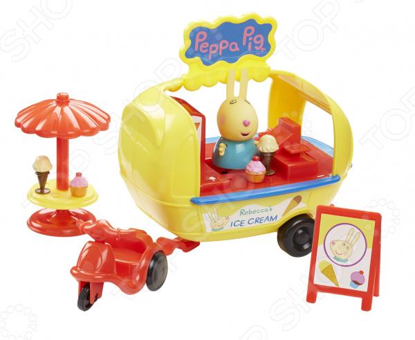 Игровой набор с фигуркой Peppa Pig «Кафе-мороженое Ребекки» игровой набор кафе мороженое brio 33944