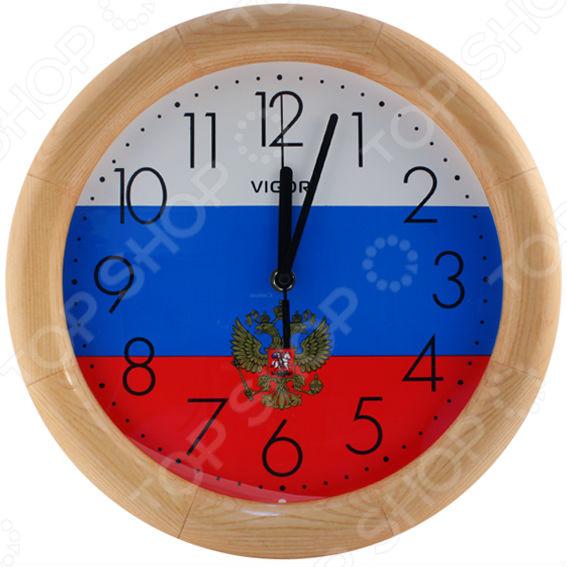 Часы настенные Vigor Д-30 «Флаг с гербом» часы vigor д 29 розовые розы