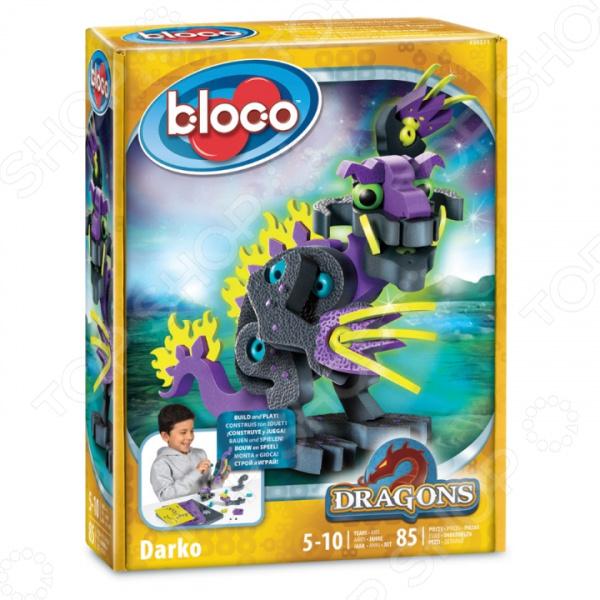Конструктор мягкий Bloco «Дракон Дарко» bloco конструктор динозавры велоцераптор и птерозавр