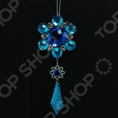 Новогоднее украшение Crystal Deco «Подвеска: цветочек»