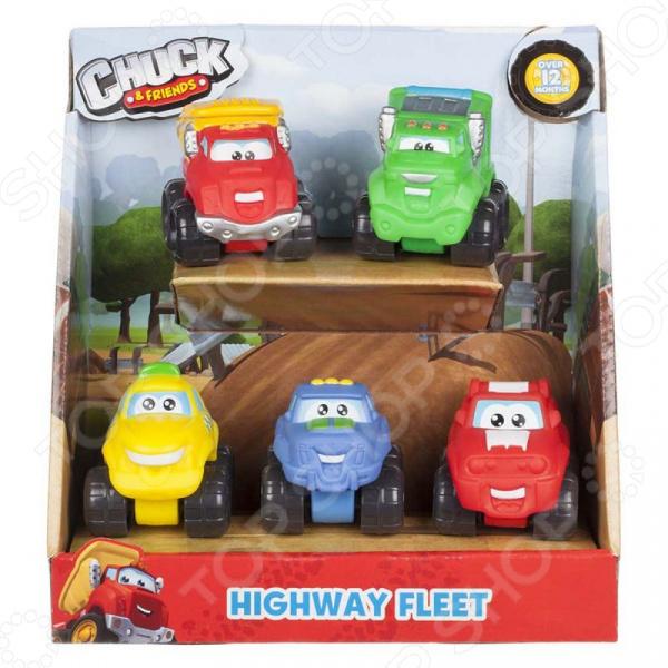 Набор машинок игрушечных Chuck & Friends «Автомагистраль»