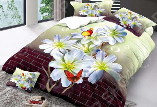 Комплект постельного белья Бояртекс «Бабочки в городе». 1,5-спальный