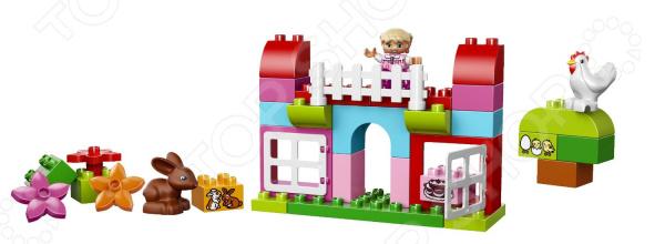 Конструктор LEGO Лучшие друзья: курочка и кролик это отличный конструктор для детей, в котором найдутся все необходимые детали для создания моделей с картинки. Большие детали подойдут для детей старше двух лет, они отлично различимы для ребенка и он точно поймет что с ними необходимо делать. Конструкторы такого типа развивают пространственное и логическое мышление, фантазию, творческие способности и мелкую моторику рук. Веселые персонажи, которых ребенок соберет сам, долго будут радовать его.