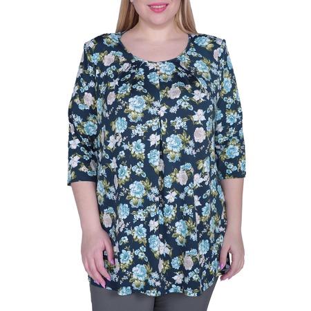 Купить Блуза Лауме-Лайн «Легкое настроение». Цвет: бирюзовый