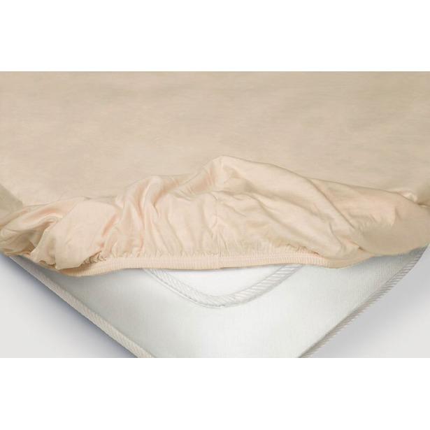 фото Простыня на резинке Ecotex трикотажная. Цвет: чайная роза. Размер простыни: 90х200+20 см