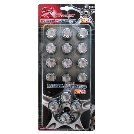 Купить Колпачки на колесные болты с отражателями TYPE R GT-37069
