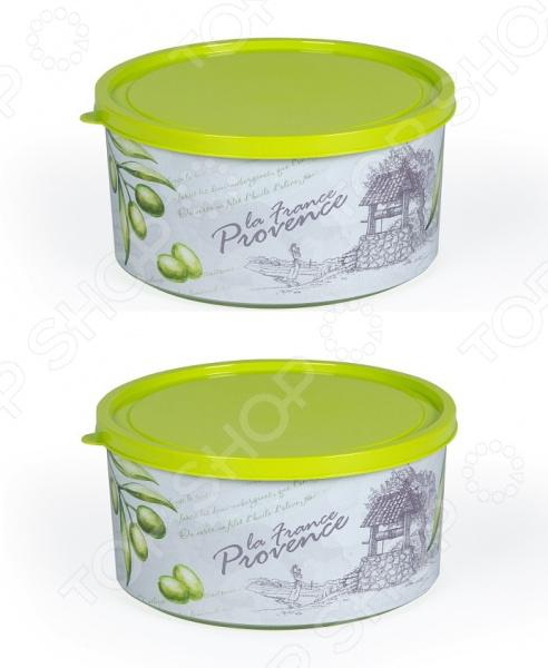 Набор контейнеров круглых Полимербыт «Прованс олива»