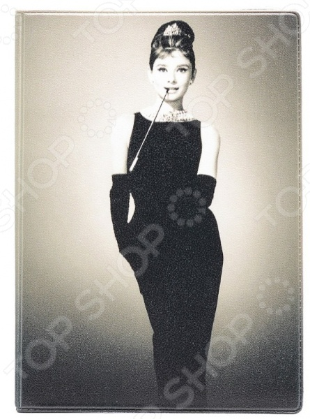 Обложка для автодокументов кожаная Mitya Veselkov «Одри в черном платье» цена