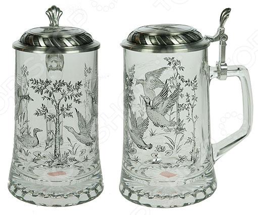 Кружка пивная коллекционная Sks-artina с крышкой «Охота на уток»
