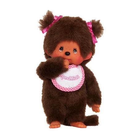 Купить Мягкая игрушка Sekiguchi «Девочка в слюнявчике с двумя хвостиками»