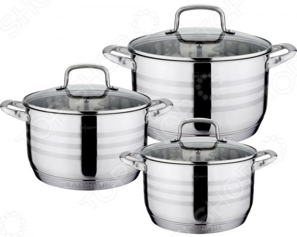 Набор кастрюль Rainstahl 1336-06RS\CW набор посуды rainstahl 6 предметов 1954 06rs cw