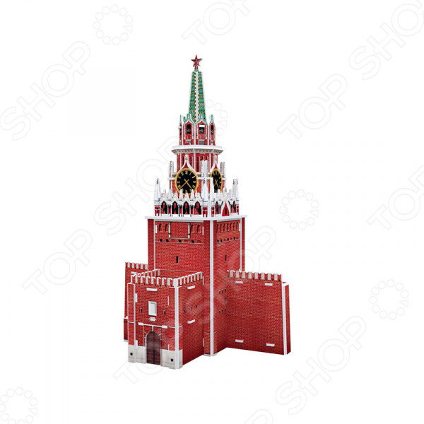 Пазл 3D мини CubicFun «Спасская башня» cubicfun 3d пазл эйфелева башня 2 франция cubicfun 33 детали