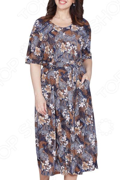 Платье Лауме-Лайн «Загадка природы». Цвет: бежевый