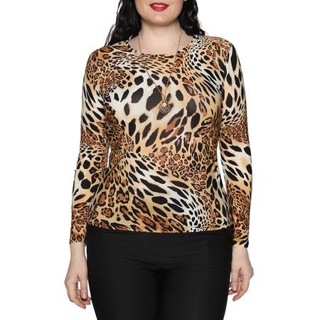 Купить Блуза Blagof «Женщина-загадка». Цвет: оранжевый