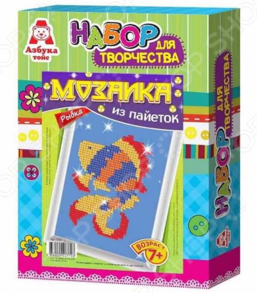 Мозаика из пайеток Азбука тойс «Рыбка» П-0012