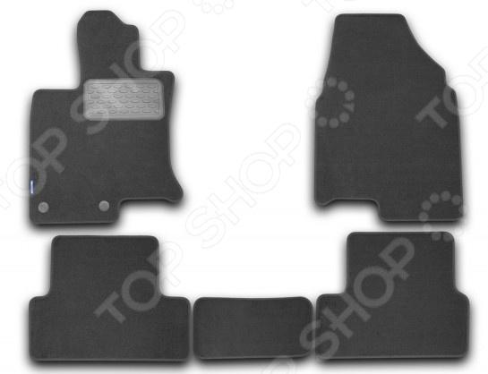 Комплект ковриков в салон автомобиля Novline-Autofamily Nissan Qashqai 2007 кроссовер. Цвет: черный ветровик rein для nissan qashqai ii 2014 кроссовер на накладной скотч 3м 4 шт