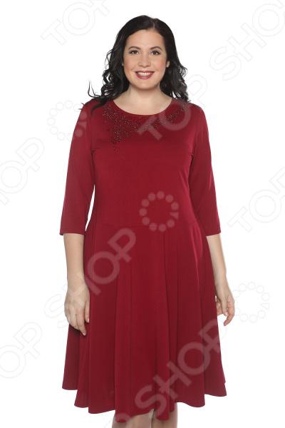 Платье Blagof «Сияние сердца». Цвет: бордовый
