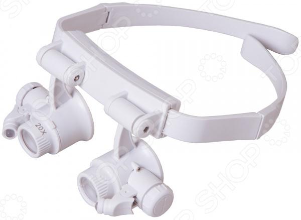 Лупа-очки Levenhuk Zeno Vizor G6 10x 15x 20x 25x led magnifier loupe glasses double eye jeweler watch repair changable lens