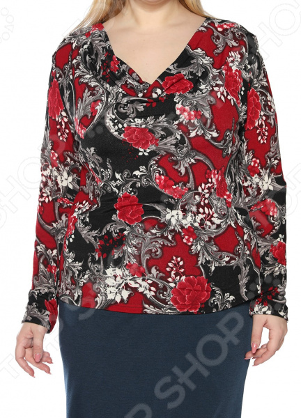 Блуза ТРЕНД «Прелестный выбор». Цвет: черный, бордовый платье тренд стильный силуэт цвет бордовый