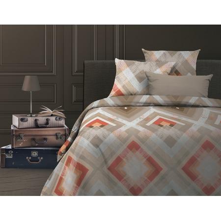 Купить Комплект постельного белья Wenge Avangard. Евро. Цвет: персиковый, бежевый