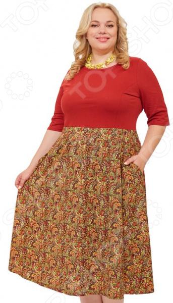 Платье Laura Amatti «Женское очарование». Цвет: бордовый платье laura amatti свет луны
