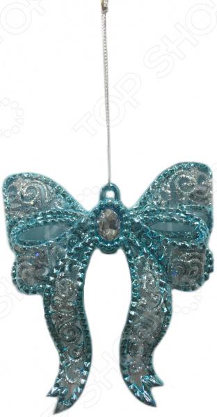 Новогоднее украшение Crystal Deco «Бант с глиттером»