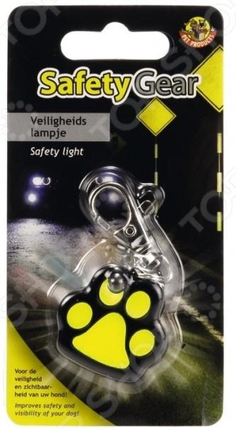 Подвеска на ошейник светящаяся для собак «Лапа» 749652