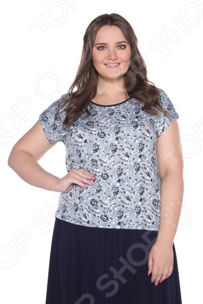 Блуза Лауме-Лайн «Маленькая роза». Цвет: серый maurini блуза maurini m98 83sf 1a бело серый в принт