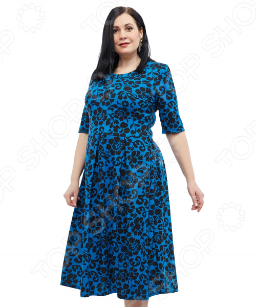 Платье Wisell «Невероятная встреча». Цвет: черный, синий