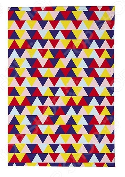 Обложка для паспорта кожаная Mitya Veselkov «Цветные треугольники»
