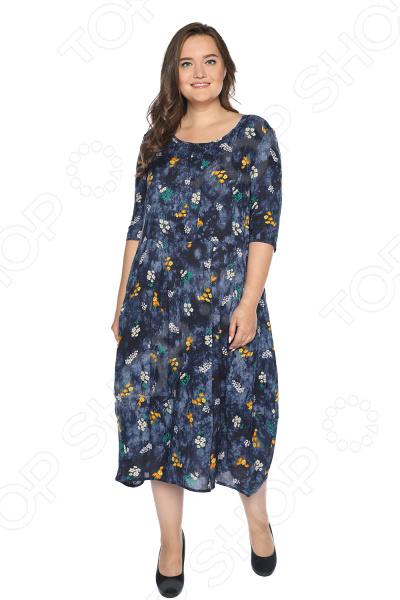 Платье Pretty Woman «Роскошный фонтан». Цвет: синий