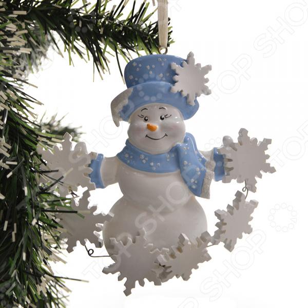 Елочное украшение Crystal Deco «Снеговик» 1707818 елочное украшение crystal deco лошадка в ассортименте
