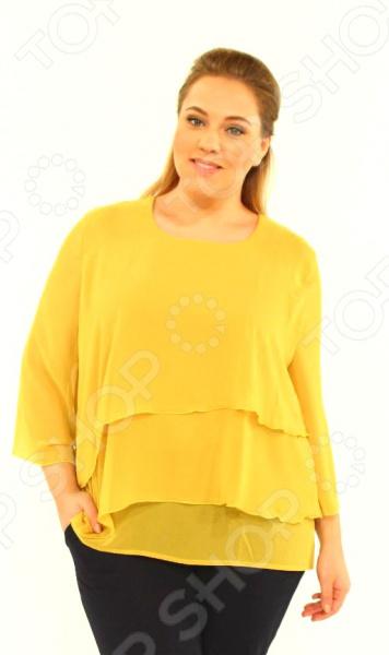 Блуза Laura Amatti «Лот 1004». Цвет: желтый цена