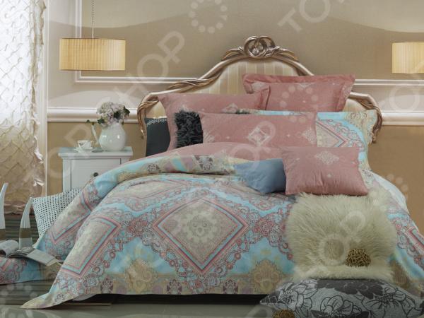 Комплект постельного белья La Noche Del Amor А-589. Цвет: розовый, голубой комплект постельного белья la noche del amor а 561