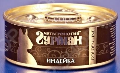 Корм консервированный для кошек Четвероногий Гурман Golden «Индейка»