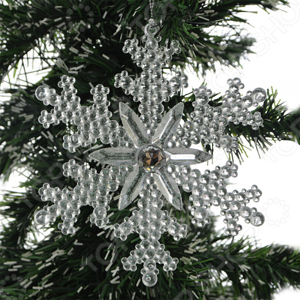Новогоднее украшение Crystal Deco «Снежинка со стразами»