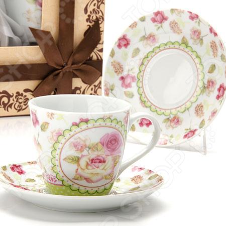 Чайный набор Loraine «Розы» LR-25798 подложка loraine lr 24612 с рисунком розы